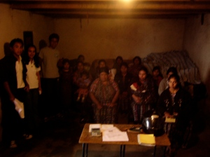 Students and Grameen bank micro-finance group